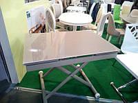 Журнально-обеденный стеклянный стол-трансформер DF901T