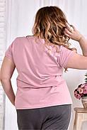 Женская стрейчевая футболка 0562 размер 42-74, фото 2