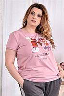 Женская стрейчевая футболка 0562 размер 42-74