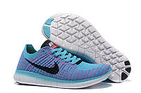 Женские кроссовки Nike Free RN Free 5.0 Flyknit Blue Реплика