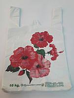 """Пакет-майка полиэтилен """"Цветы"""" 30*46см"""