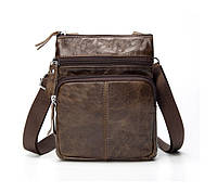 Мужская кожаная мини-сумка через плечо Marrant | lite coffee, фото 1