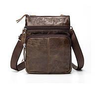 Мужская кожаная мини-сумка через плечо Marrant   lite coffee, фото 1