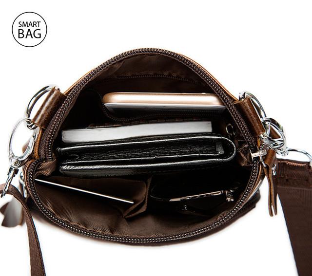 Небольшая мужская кожаная сумочка на плечо Marrant в цвете lite coffee
