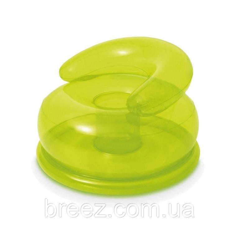 Надувное кресло Intex 48509 зеленое