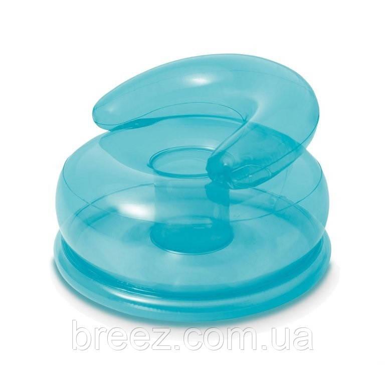 Надувное кресло Intex 48509 голубое
