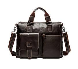 Небольшой мужской кожаный портфель Marrant | темно-коричневый