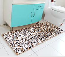 Плюшевый коврик «Камешки» 40×60 см коричневый