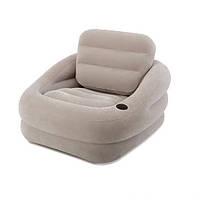 Надувное велюровое кресло Intex 68587