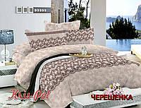 Евро макси набор постельного белья 200*220 из Сатина №456 KRISPOL™