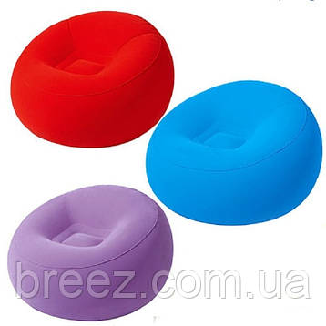 Надувное флокированное кресло Bestway 75052, фото 2