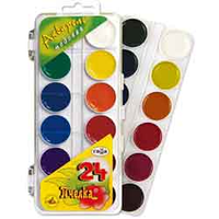 Краски акварельные Гамма 24цв пластик