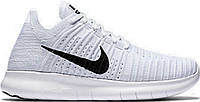 Кроссы найк Nike Free Run Flyknit White Wind