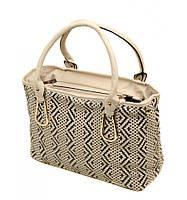Женская плетенная кожаная сумка