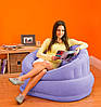 Велюровое надувное кресло Intex 68563 розовое, фото 3