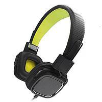 Наушники с микрофоном Gemix Clarks Black/Green, Mini jack (3.5 мм), накладные, кабель 1.2 м