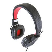 Наушники с микрофоном Gemix Clarks Black/Red, Mini jack (3.5 мм), накладные, кабель 1.2 м