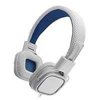 Наушники с микрофоном Gemix Clarks White/Blue, Mini jack (3.5 мм), накладные, кабель 1.2 м