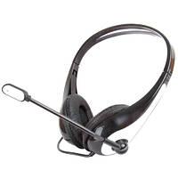 Наушники с микрофоном Gemix HP-250MV Black, 2 x Mini jack (3.5 мм), накладные, кабель 2.5 м