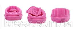 Велюровое надувное кресло Intex 68563 розовое, фото 2