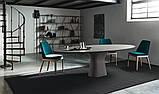Обеденный овальный бетонный стол PODIUM 200x106 см фабрики BONTEMPI (Италия), фото 2