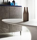 Обеденный овальный бетонный стол PODIUM 200x106 см фабрики BONTEMPI (Италия), фото 3