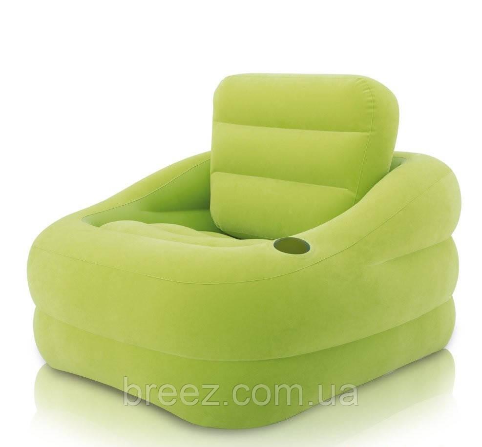 Надувное велюровое кресло Intex 68586