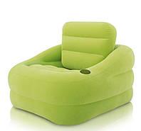 Надувное велюровое кресло Intex 68586, фото 1