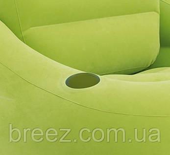 Надувное велюровое кресло Intex 68586, фото 2