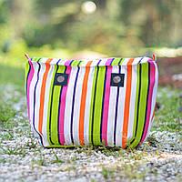 Полосатая подкладка для сумок CREGO, O bag, Lime and Soda, Am Bag размер Classic