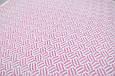 Ажурный вязанный плед на трикотаже, розовый, фото 4