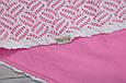 Ажурный вязанный плед на трикотаже, розовый, фото 6