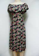 Платье женское трикотажное в цветок, фото 1