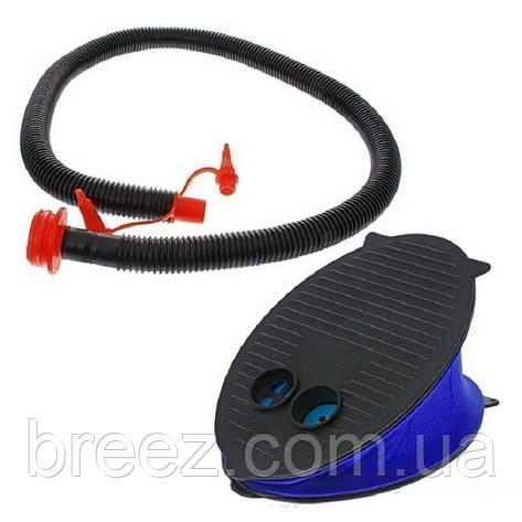 Ножной насос для надувания Intex 69611 объем 3 л, 28 см 3 насадки, фото 2