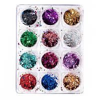 НОВИНКА! Бинго разных размеров - галографики, цветные, 12 шт