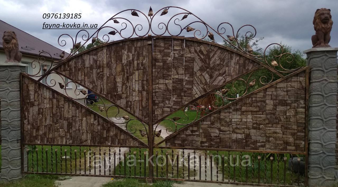 Кованые ворота 1119