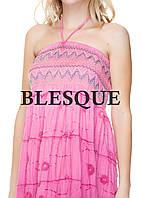 Сарафан-юбка с кружевом розовый