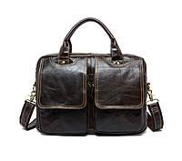 Мужской кожаный портфель Marrant | темно-коричневый, фото 1