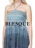 Сарафан-юбка с кружевом серый