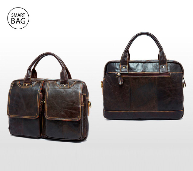 Мужской кожаный портфель Marrant | темно-коричневый