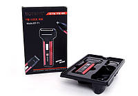 Электробритва Boteng BT-T1 аккумуляторная 3 насадки бритье, стрижка волос, триммер для носа, фото 1