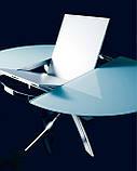 Круглый раскладной стеклянный стол BARONE 122 см фабрики BONTEMPI (Италия), фото 3