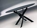 Круглый раскладной стеклянный стол BARONE 122 см фабрики BONTEMPI (Италия), фото 8