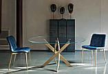 Круглый раскладной стеклянный стол BARONE 122 см фабрики BONTEMPI (Италия), фото 10