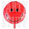 Шары Смайлы красные, 44 см