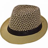 Шляпа мужская соломенная