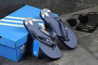 Мужские  вьетнамки ADIDAS, темно синие / сандалии вьетнамки мужские АДИДАС, стильные