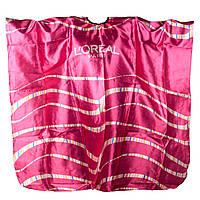 Пеньюар LOREAL надписи, белый, розовый
