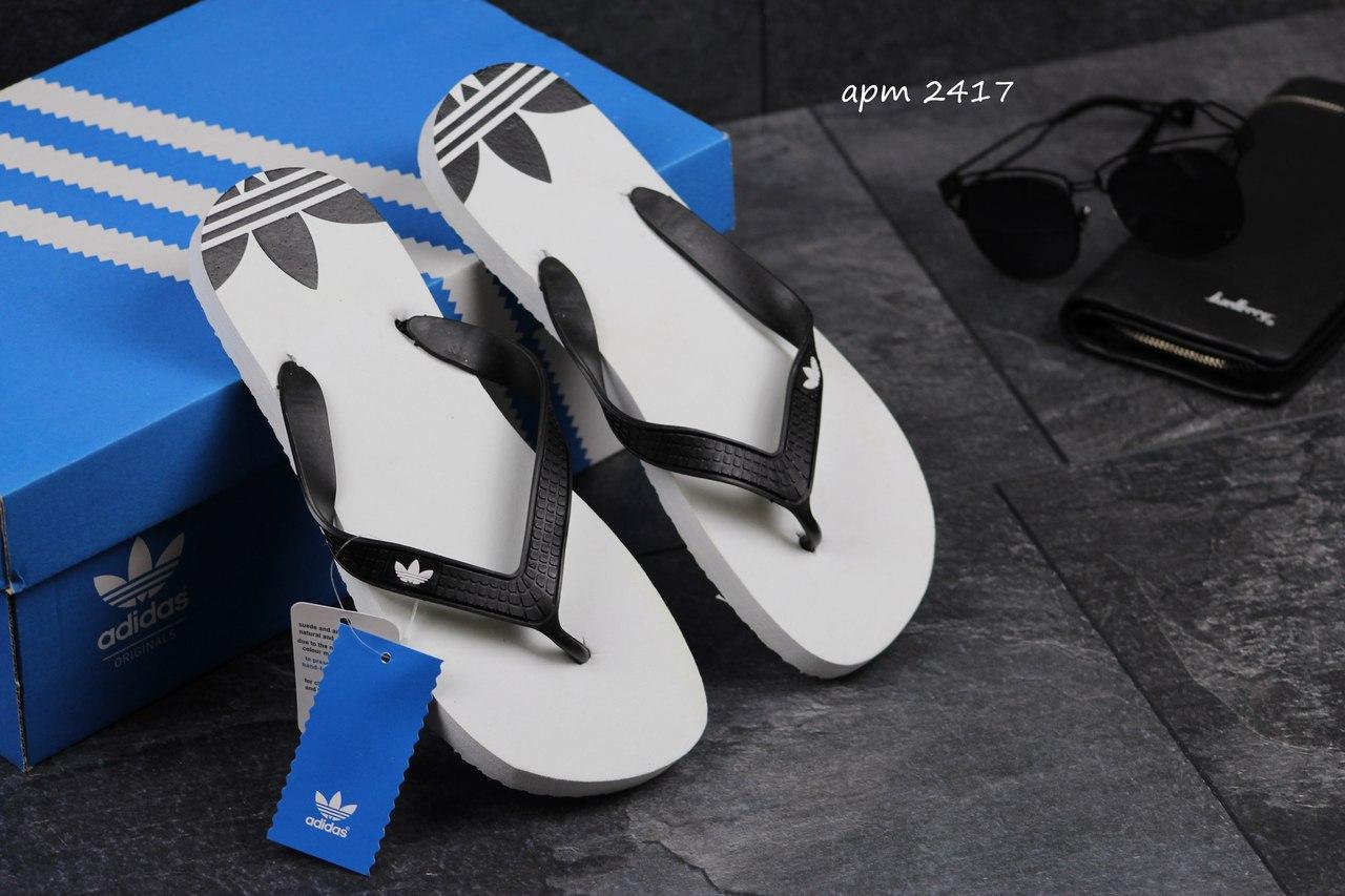 Мужские  вьетнамки ADIDAS, белые / сандалии вьетнамки мужские АДИДАС, модные, качественные - БРУКЛИН интернет-гипермаркет в Киеве