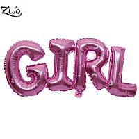 Фольгированный воздушный шарик  буквы GIRL
